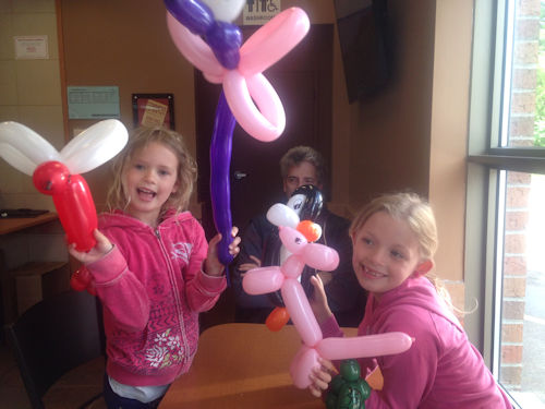 balloon with friends at Timmys